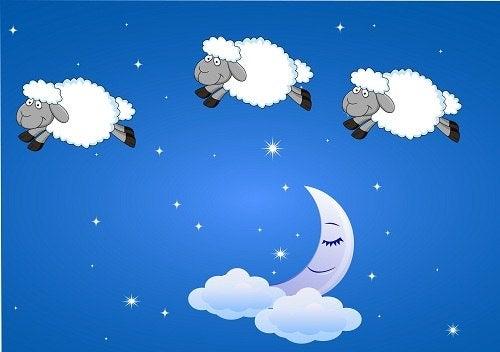 Unettomuus aiheuttaa silmien punoitusta.