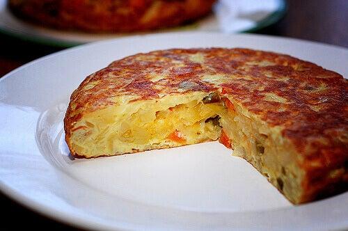 syö kananmunia munakas tortilla