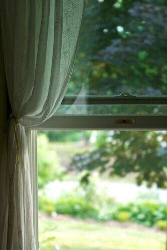 ikkunasta rauhallinen näkymä