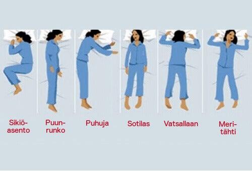 Mitä nukkuma-asentosi kertoo sinusta