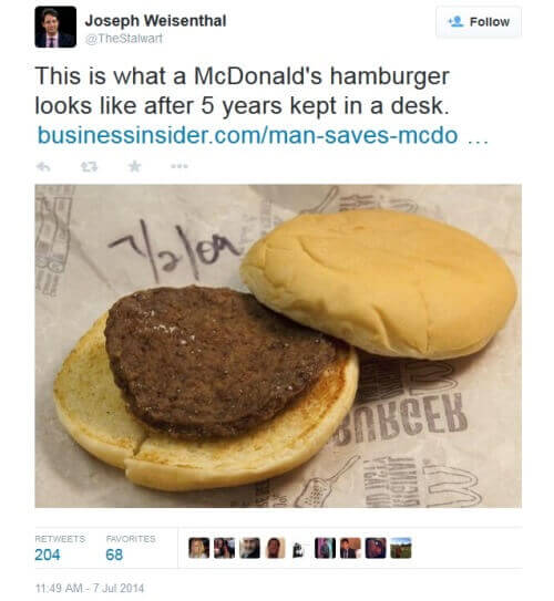 McDonalds hampurilainen