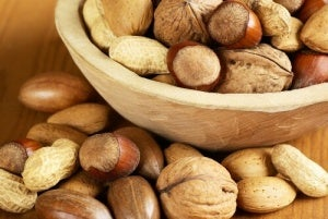 Pähkinät terveellinen ruoka