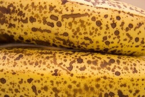 erittäin kypsät banaanit