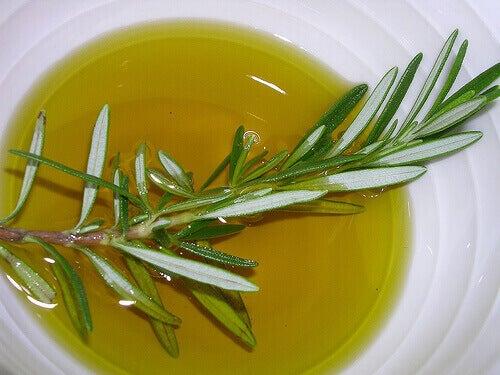 Rosmariinin ja oliiviöljyn avulla saat vahvat hiukset.
