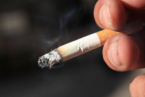 tupakoitsija oppii polttamaan