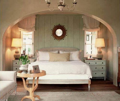 rauhallinen ympäristö makuuhuoneessa