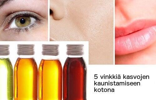 5 keinoa kaunistaa kasvot kotona