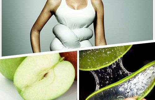 Vatsa solmussa omena aloe