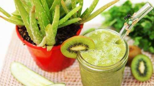 Vihreä mehu vatsan turvotuksen laskemiseksi