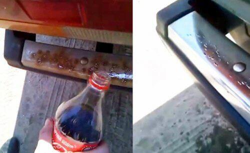 coca-colaa ruosteen poistossa