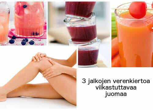 3 juomaa jalkojen verenkierron parantamiseen