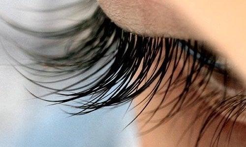 Risiiniöljyn hyödyt: auttaa pidentämään silmäripsiä.