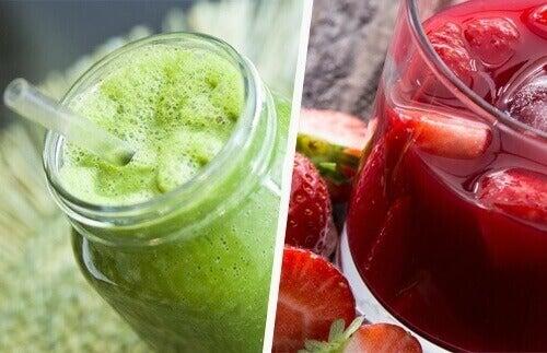 Suoliston puhdistus luonnollisilla juomilla ja smoothieilla