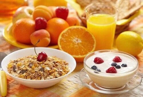 Vähäkalorinen aamupala