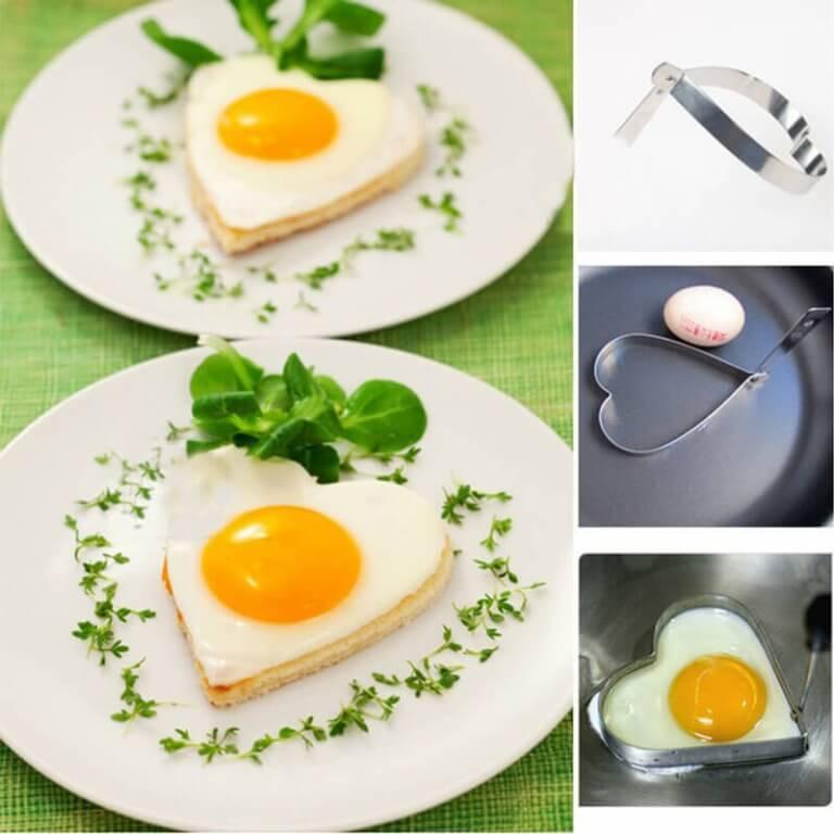 Sydömenmuotoinen paistettu kananmuna