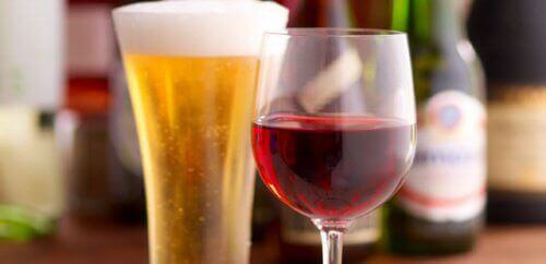 olutta vai punaviiniä