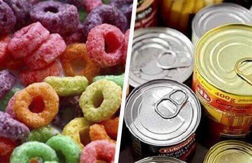 prosessoitu ruoka sisältää paljon lisäaineita