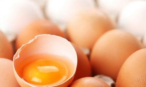Vaihdevuodet ja ruokavalio: kananmunat