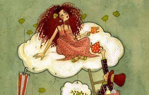Tyttö pilven päällä