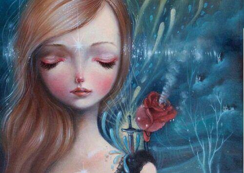 maalaus tytöstä