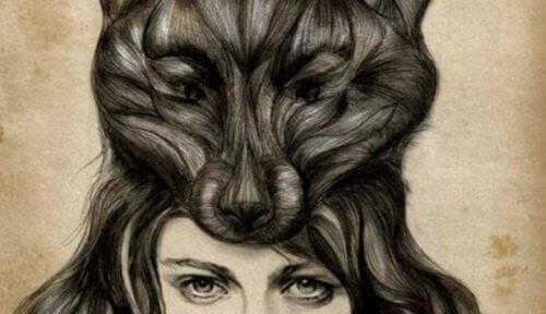 Tunne-elämän vampyyrit nainen ja susi