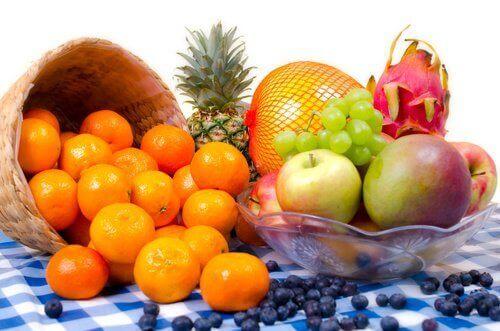 Positiivinen energia tuoreet hedelmät