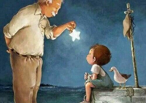 isoisä ja lapsenlapsi