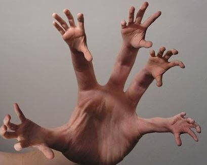 vieraat kädet