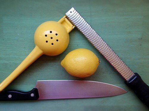 Jäädytetty sitruuna tarvikkeet