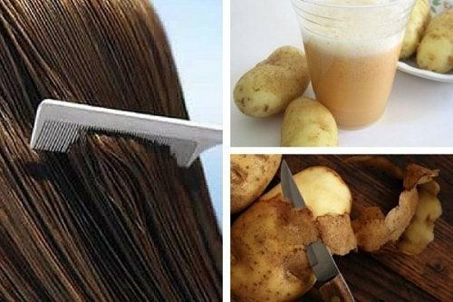 Perunamehu edistää hiustenkasvua