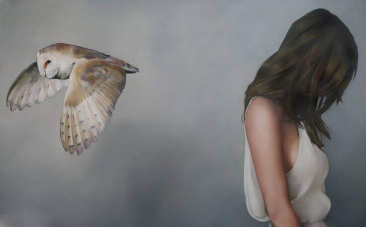 Nainen ja pöllö