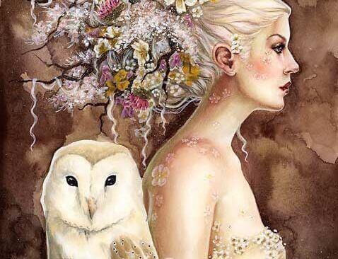 pöllö ja nainen
