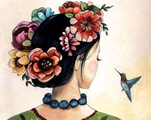 Tyttö ja kolibri
