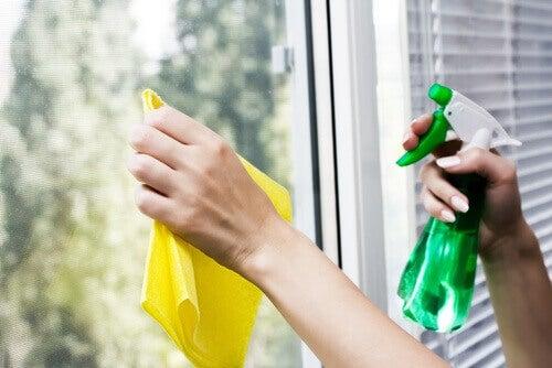 Siivoustuotteet ikkunoiden siivoukseen