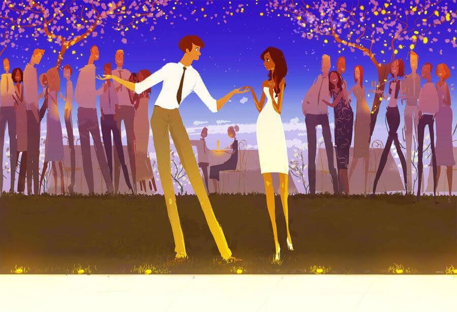 Mies hakee naisen tanssiin