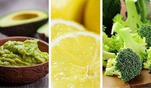 6 parasta emäksistä ruoka-ainetta