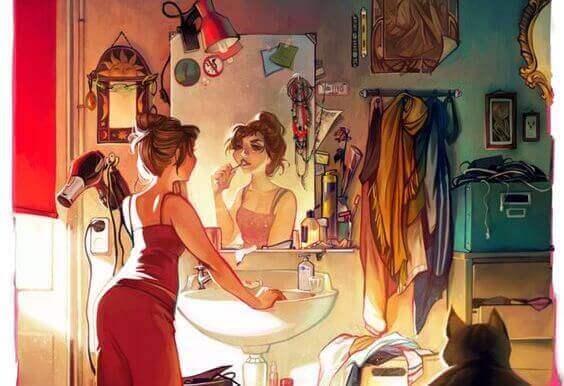 Ei teeskennellä peilin edessä