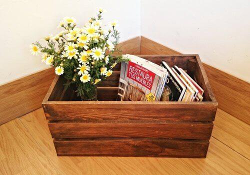 puulaatikot uusiokäytössä; monitoimilaatikko
