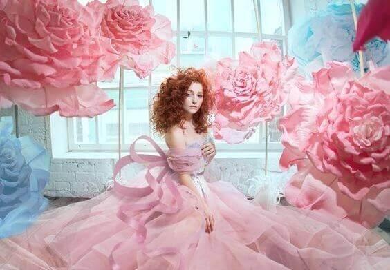 Ruusuinen nainen