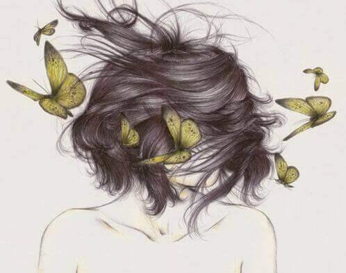 perhosnainen ei itsevarma