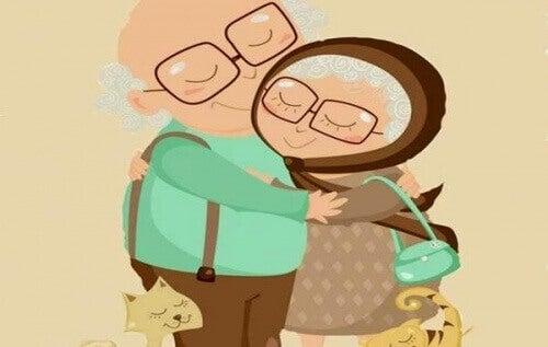 Kestävä rakkaus ei katso ryppyjä ja aikaa