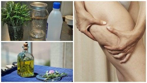 Alkoholi-rosmariinihoito selluliitille