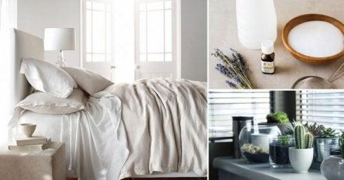 8 tapaa puhdistaa makuuhuone luonnollisesti