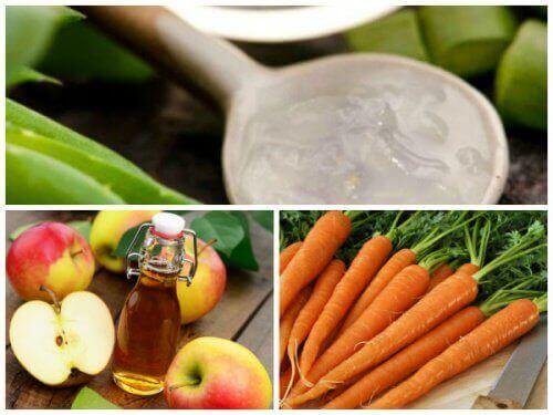 Tämä suonikohjuhoito aloe verasta, porkkanoista ja omenaviinietikasta valmistetaan helposti.