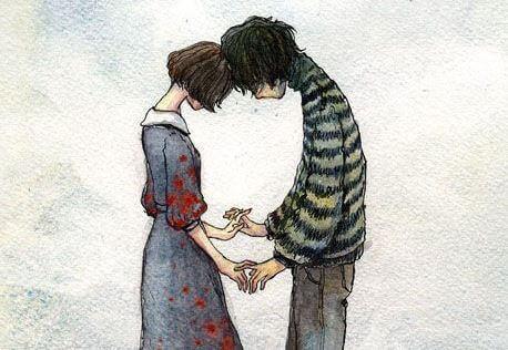 surullinen pari lopettaa suhteen
