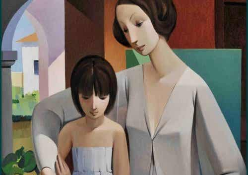 Äidin ja tyttären tunne-elämät yhdistävä tekijä