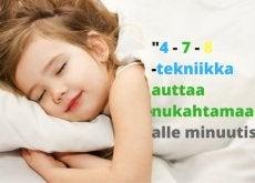 Nukahtamaan alle minuutissa
