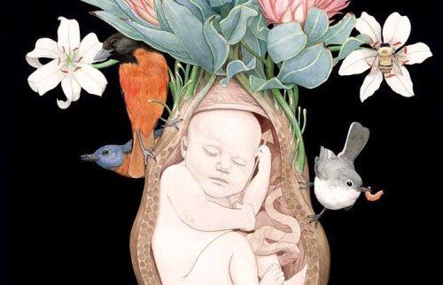 Öidin ja tyttären välinen side muodostuu jo lapsen kasvaessa kohdussa.