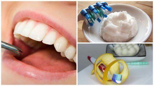 5 kotikonstia plakin poistamiseen hampaista