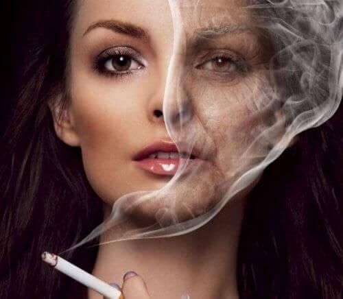 Nikotiini vanhentaa
